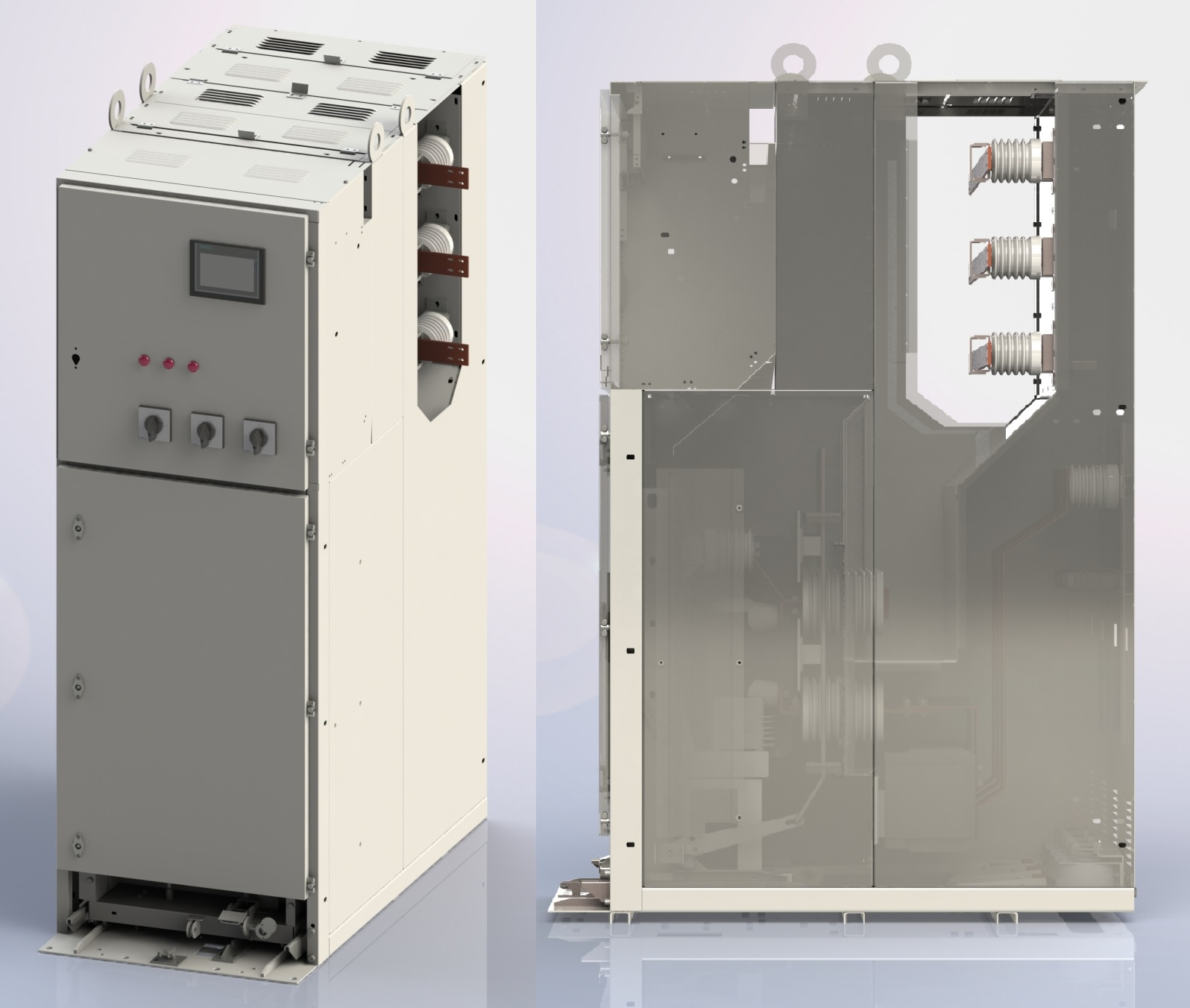 6-10 kV КРУ-10Э and КРУ-10ЭЦ - type high voltage cabinet